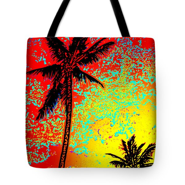 Tote Bag featuring the photograph Sunset Palms by David Lawson