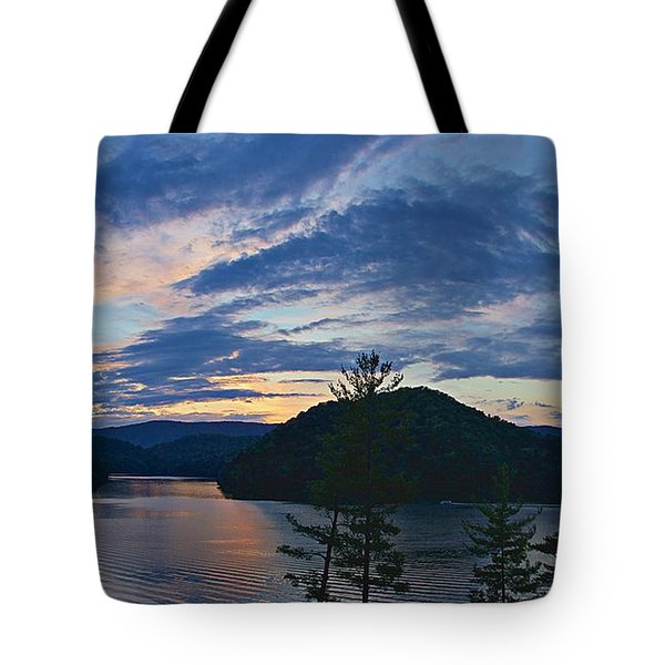 Sunset Pano - Watauga Lake Tote Bag