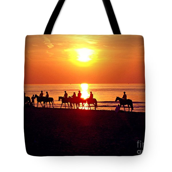 Sunset Past Time Tote Bag by Nina Ficur Feenan