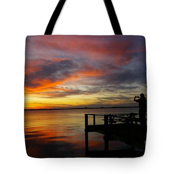 Sunset Photographer Tote Bag
