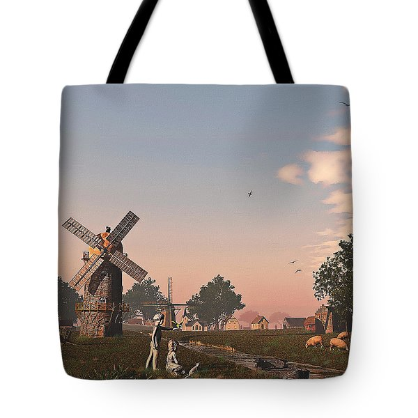 Sunset Play Tote Bag