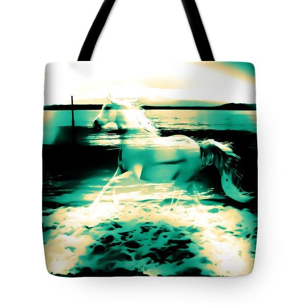 Sunset Rainbow At Edmonds Washington  Tote Bag by Eddie Eastwood