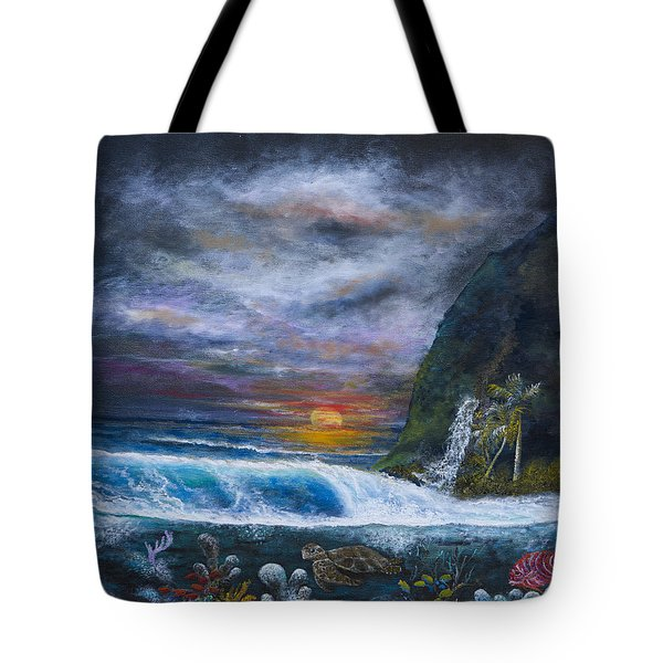 Sunset Reef Tote Bag by John Garland  Tyson