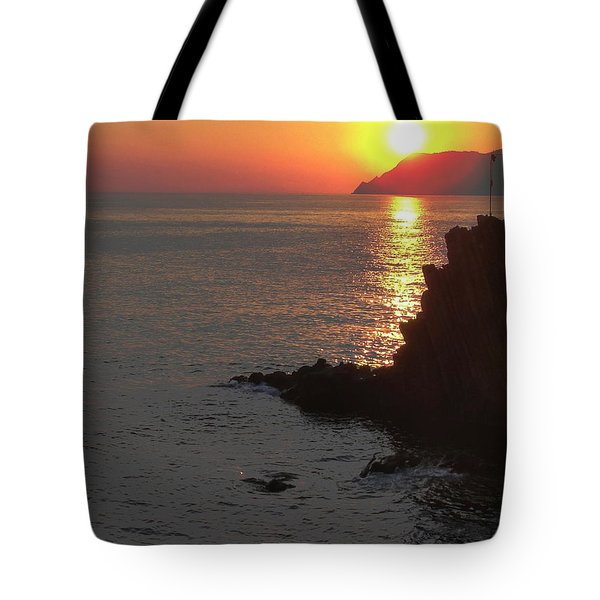 Tote Bag featuring the photograph Sunset Reflection by Natalie Ortiz