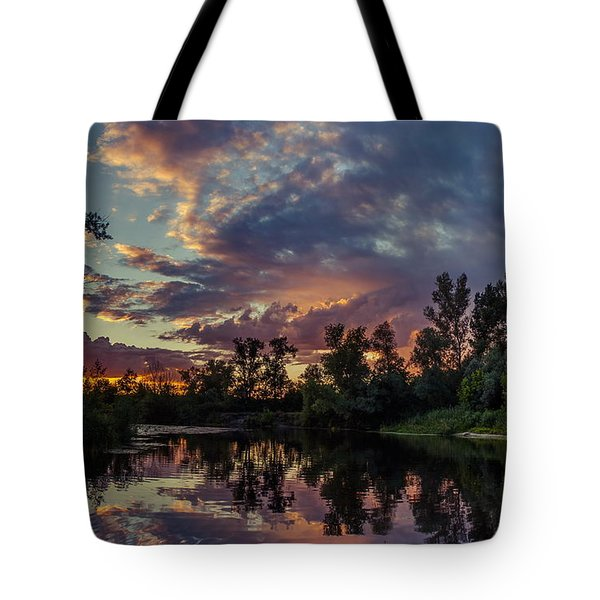 Tote Bag featuring the photograph Sunset Reflections by Dmytro Korol
