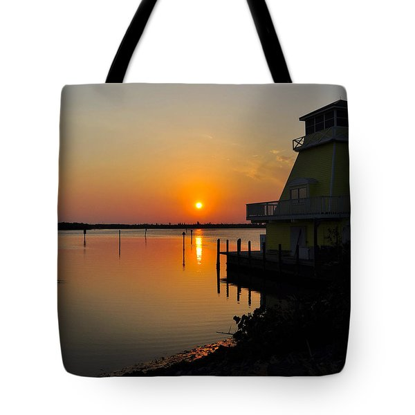 Sunset Reflections Tote Bag by Jim Brage