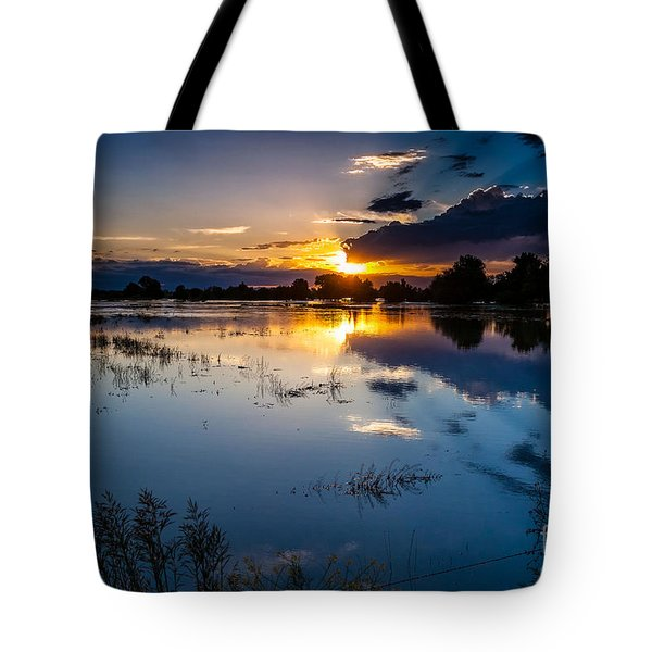 Sunset Reflections Tote Bag by Steven Reed