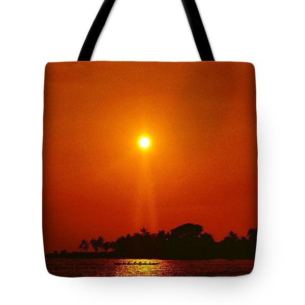 Sunset Ride Tote Bag by Athala Carole Bruckner