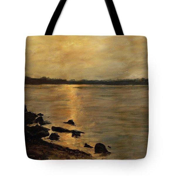 Sunset River Potomac River Washington Dc Maryland Tote Bag