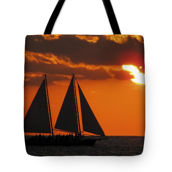 Key West Sunset Sail 3 Tote Bag