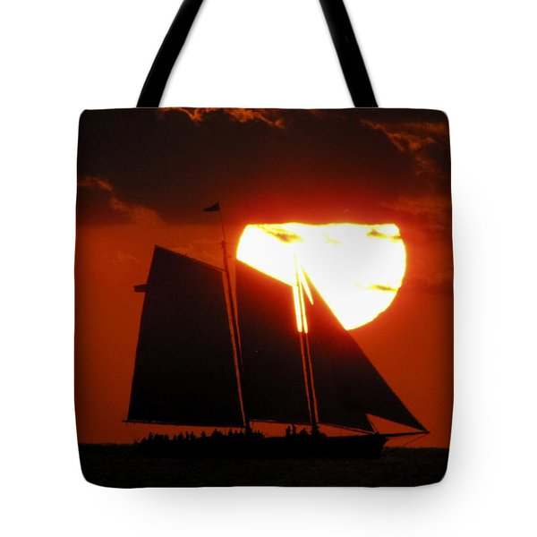 Key West Sunset Sail 5 Tote Bag