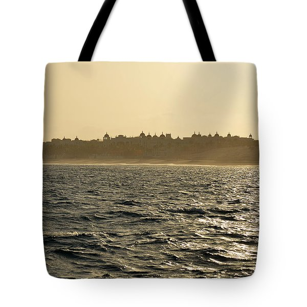 Tote Bag featuring the photograph Sunset Sailing In Cabo by Christine Till