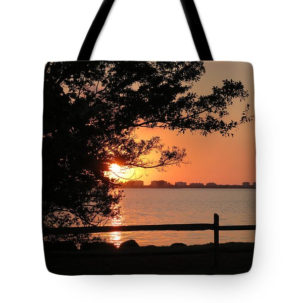 Sunset On Sarasota Harbor Tote Bag