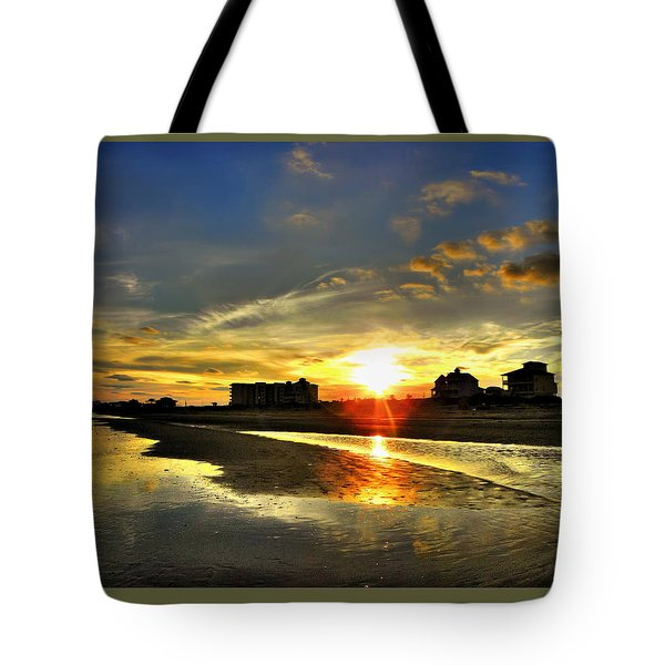 Tote Bag featuring the photograph Sunset by Savannah Gibbs
