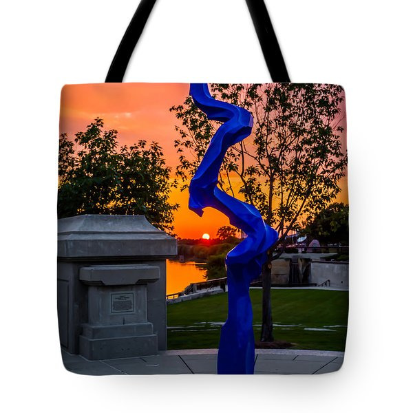 Sunset Sculpture Tote Bag