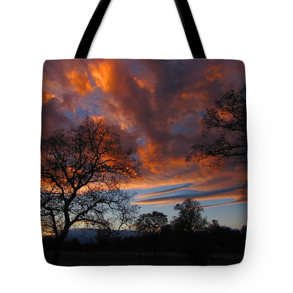 Sunset September 24 2013 Tote Bag by Joyce Dickens