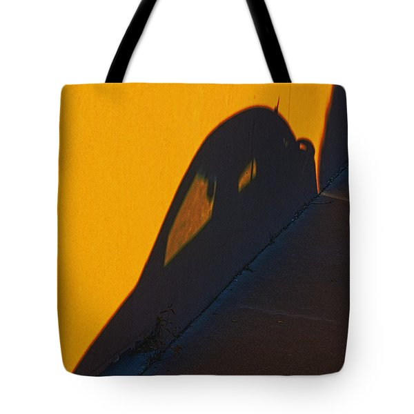 Tote Bag featuring the photograph Sunset Shadow Car by John Hansen