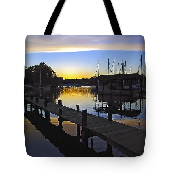 Tote Bag featuring the photograph Sunset Silhouette by Brian Wallace