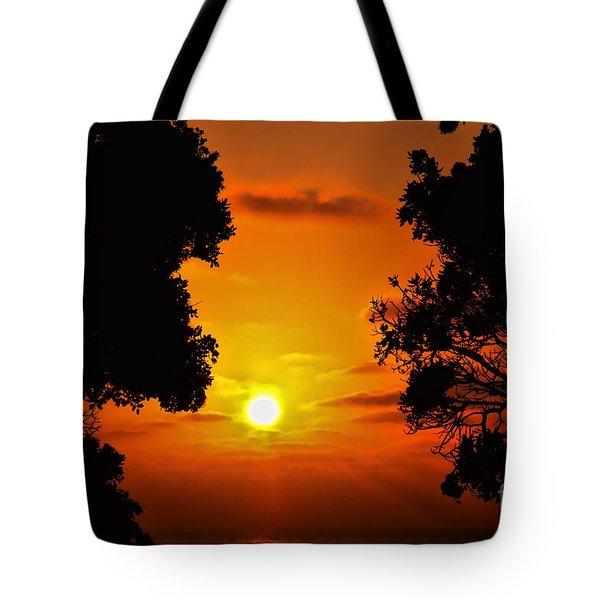 Sunset Silhouette By Diana Sainz Tote Bag by Diana Sainz