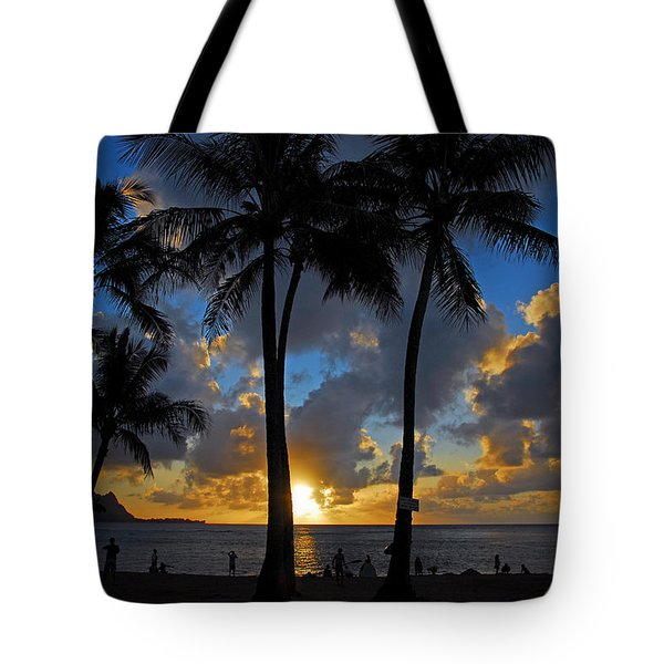 Sunset Silhouettes Tote Bag by Lynn Bauer