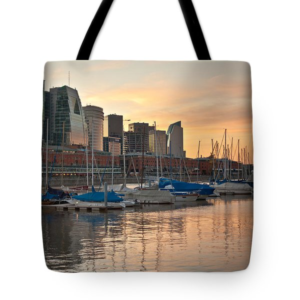 Tote Bag featuring the photograph Buenos Aires Sunset by Silvia Bruno