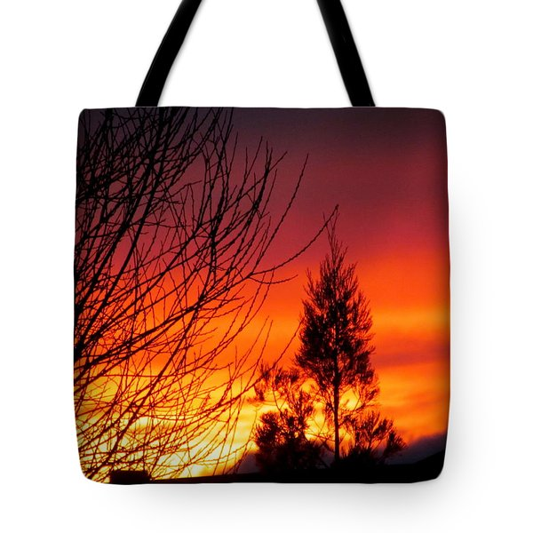 Sunset Sky . Tote Bag by Joyce Woodhouse
