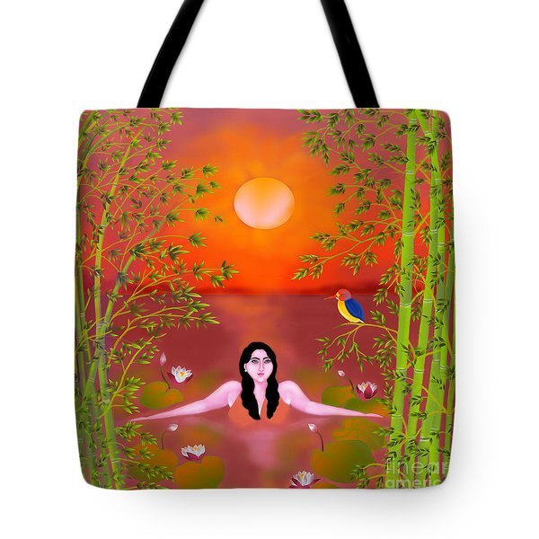 Sunset Songs Tote Bag by Latha Gokuldas Panicker