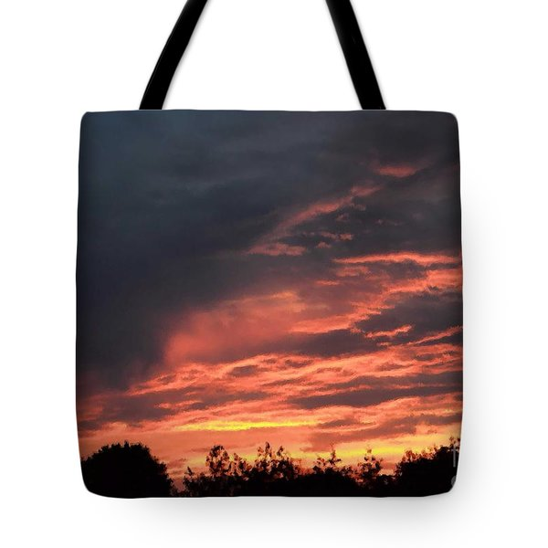 Tote Bag featuring the photograph Sunset Streaks by Luther Fine Art