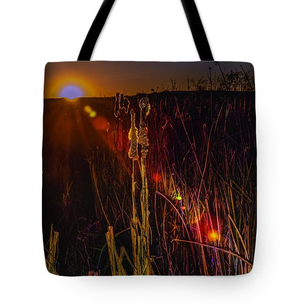 Sunset Sun-beam Tote Bag