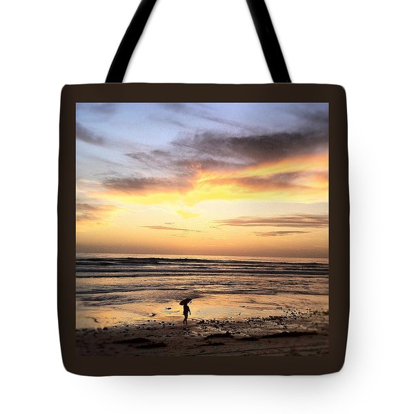Sunset Surfer Tote Bag