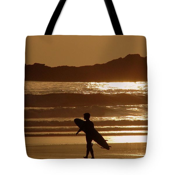 Sunset Surfer Tote Bag by Ramona Johnston