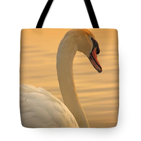 Sunset Swan Tote Bag