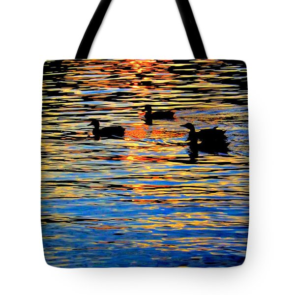 Sunset Swim Tote Bag