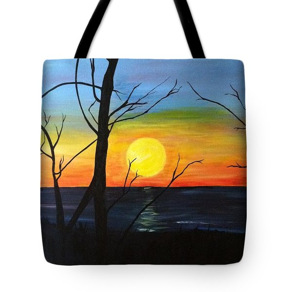 Sunset Through The Branches Tote Bag