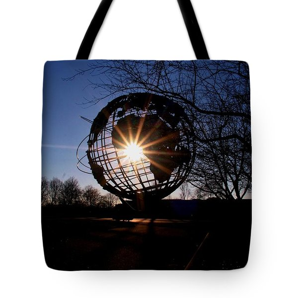 Sunset Through The Unisphere Tote Bag