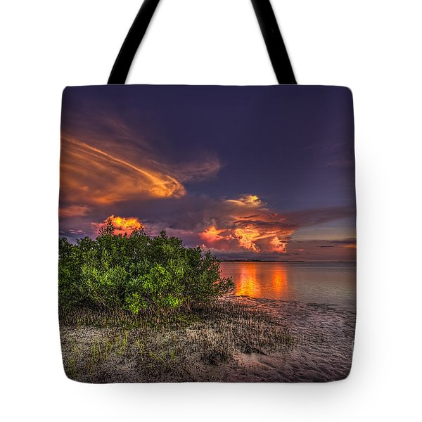 Sunset Thunder Storms Tote Bag