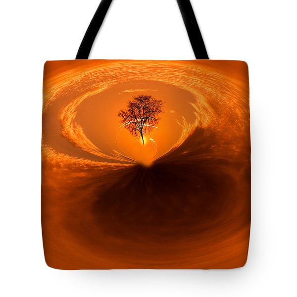 Sunset Tree Artwork Tote Bag by Don Johnson