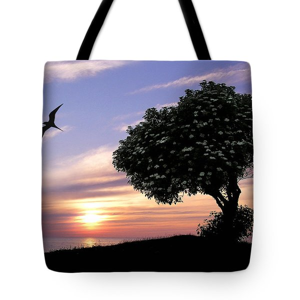 Sunset Tree Of Tranquility Tote Bag