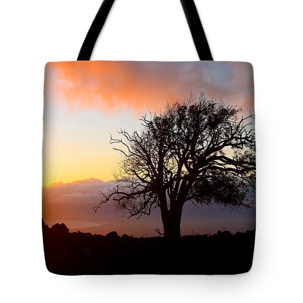 Sunset Tree In Maui Tote Bag