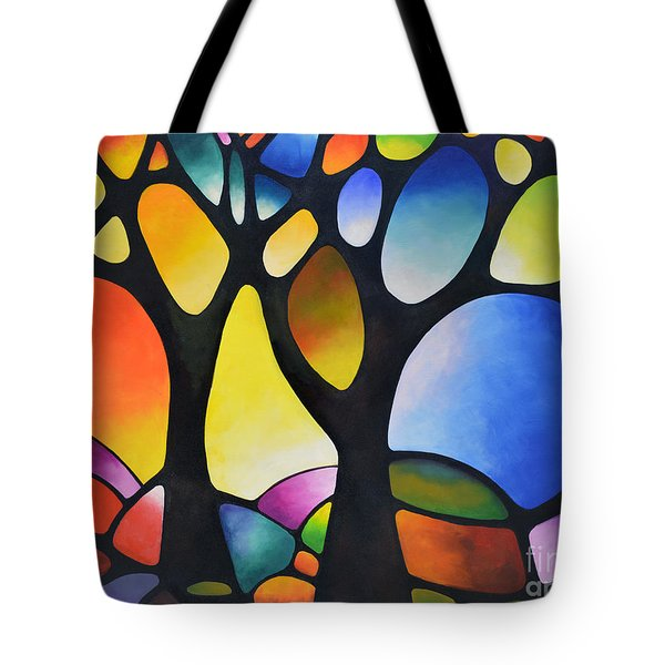 Sunset Trees Tote Bag
