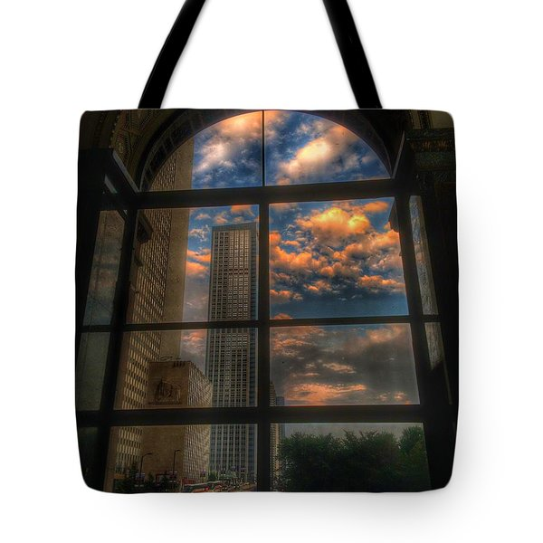 Sunset View Of Chicago Tote Bag
