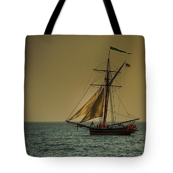 Sunset Voyage Tote Bag