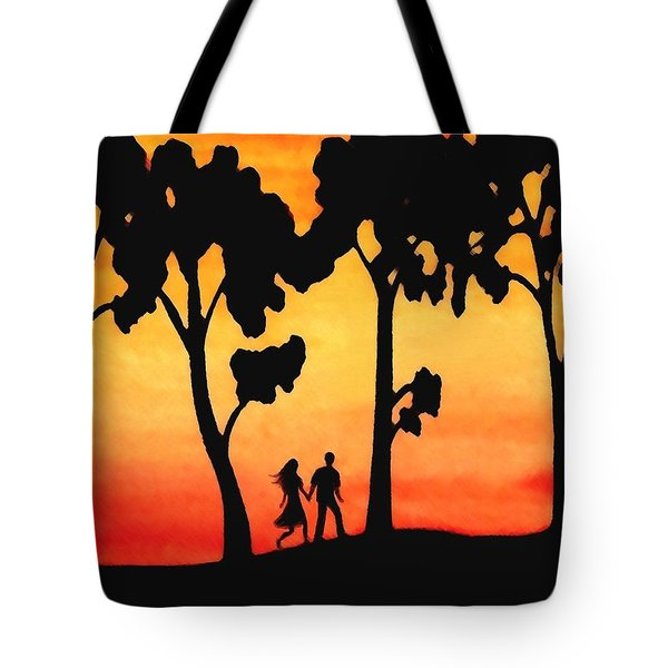 Sunset Walk Tote Bag by Sophia Schmierer