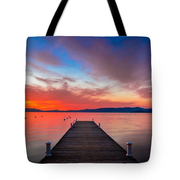 Sunset Walkway Tote Bag