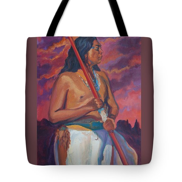 Sunset Warrior Tote Bag