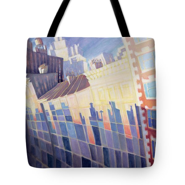 Sunset, Waverly Place, New York City, 1995 Oil On Canvas Tote Bag