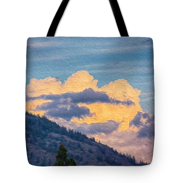 Sunset With A Smile Tote Bag by Omaste Witkowski