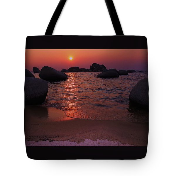 Tote Bag featuring the photograph Sunset With A Whale by Sean Sarsfield