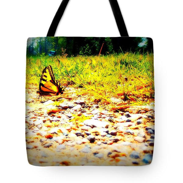 Sunshine Butterfly Tote Bag