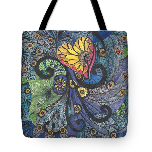 Sunshine In My Heart Tangle Tote Bag